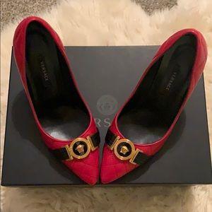 Beautiful red Versace pumps!